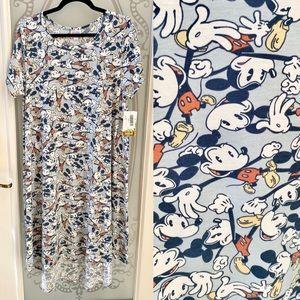 NEW! LuLaRoe Carly Mickey Mouse Swing Dress Hi-Low